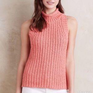 Anthropologie Moth Sleeveless Roll Neck Sweater S